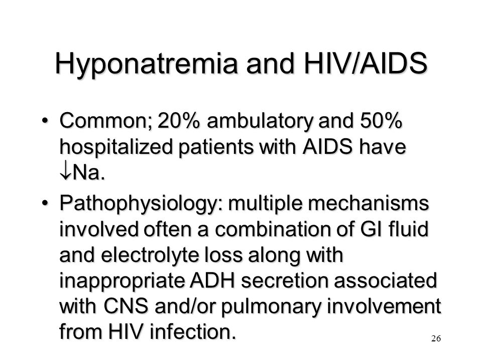 Hyponatremia and HIV/AIDS