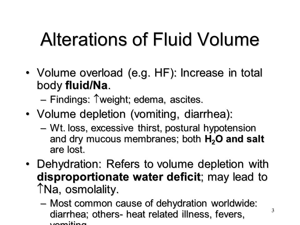 Alterations of Fluid Volume