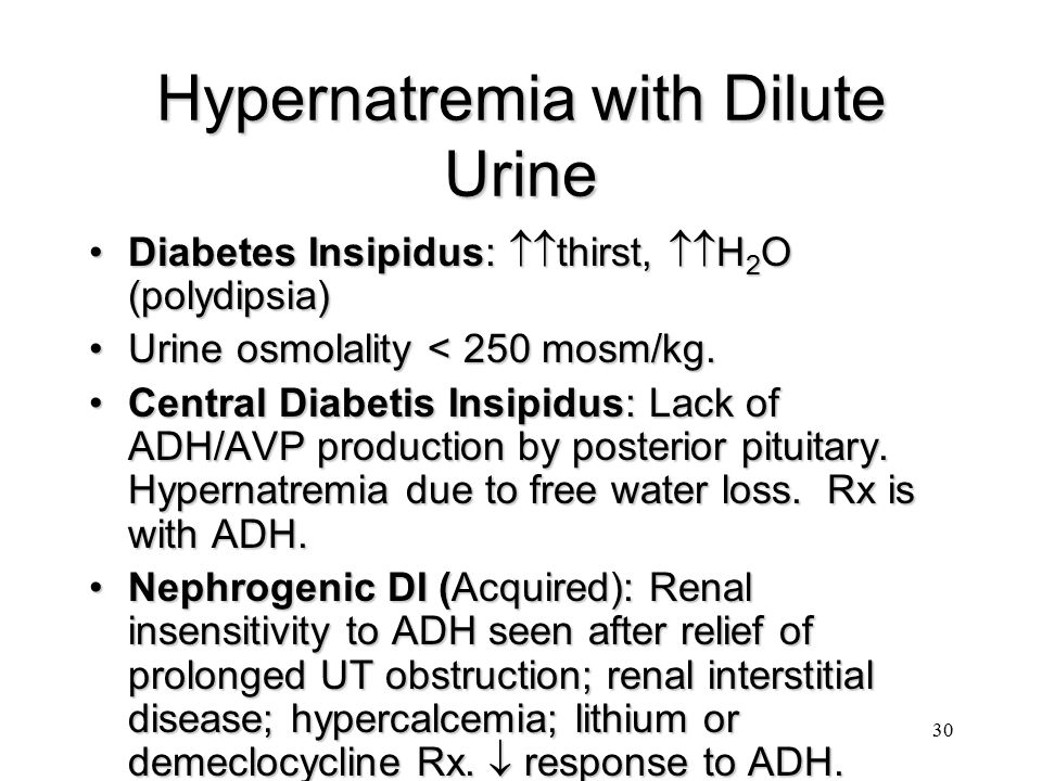 Hypernatremia with Dilute Urine