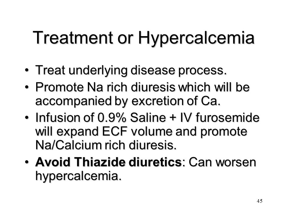 Treatment or Hypercalcemia