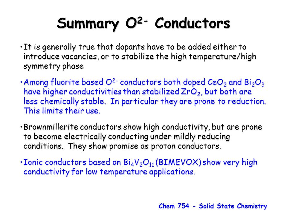 Chem 754 - Solid State Chemistry
