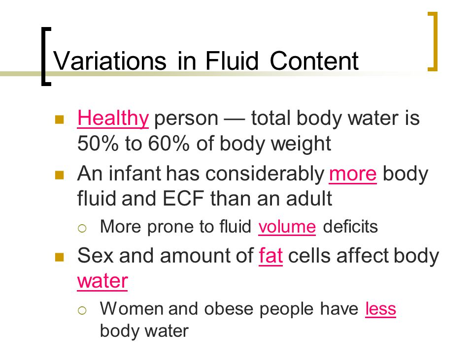 Variations in Fluid Content