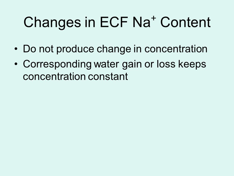 Changes in ECF Na+ Content