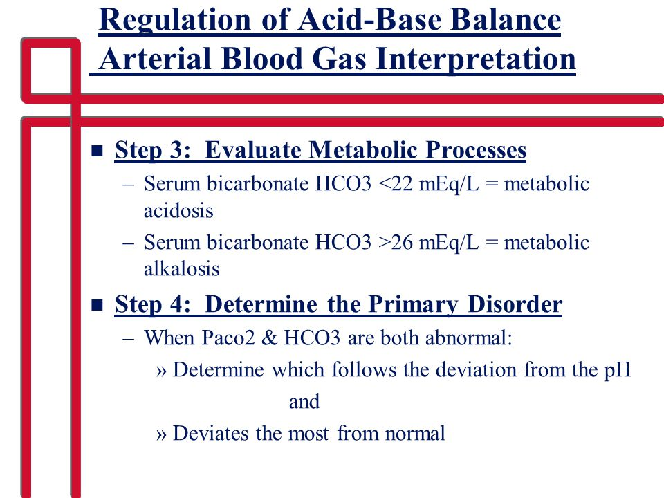 Regulation of Acid-Base Balance Arterial Blood Gas Interpretation