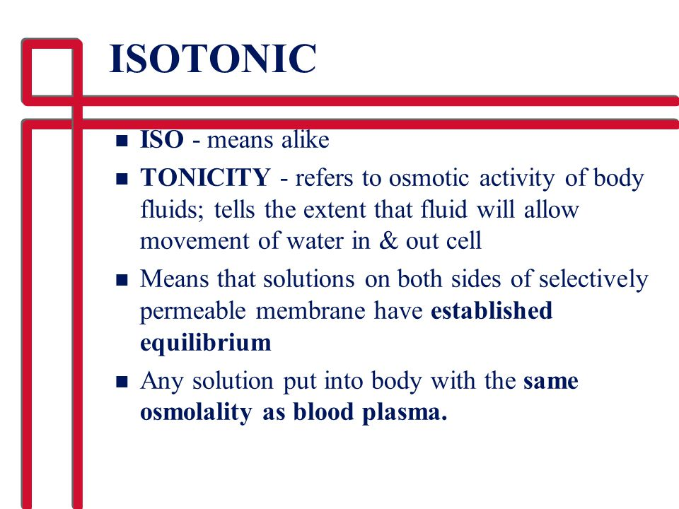 ISOTONIC ISO - means alike
