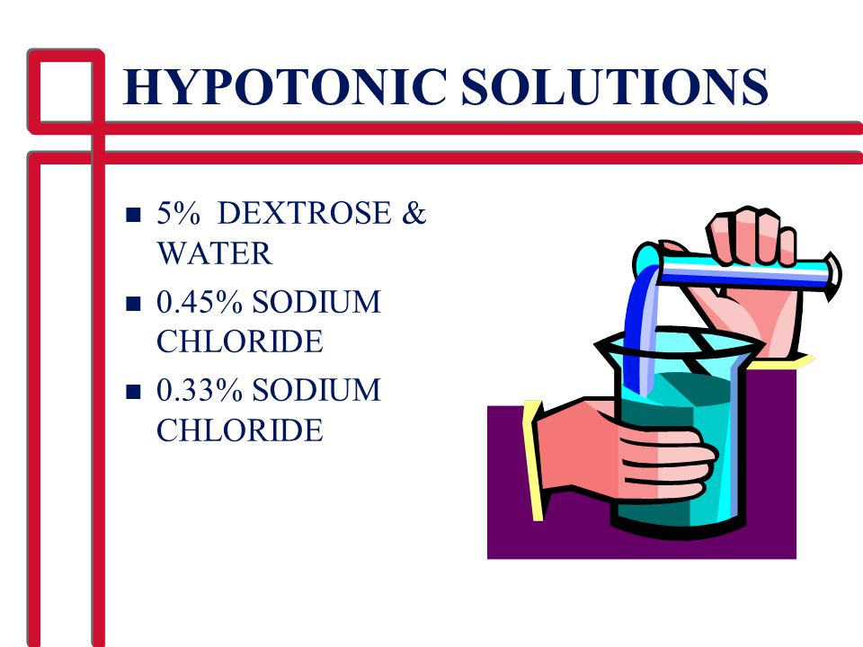 HYPOTONIC SOLUTIONS 5% DEXTROSE & WATER 0.45% SODIUM CHLORIDE