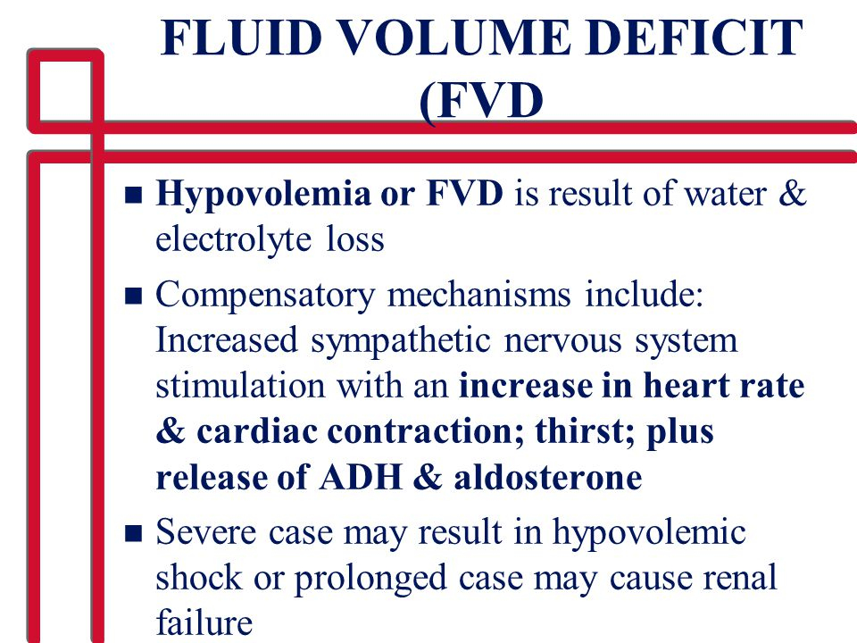 FLUID VOLUME DEFICIT (FVD