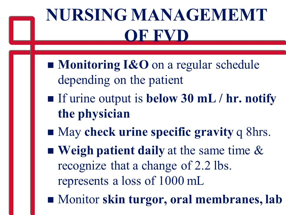 NURSING MANAGEMEMT OF FVD