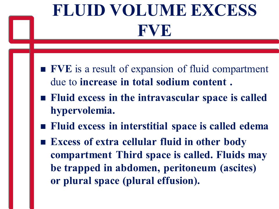 FLUID VOLUME EXCESS FVE