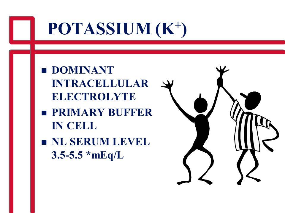 POTASSIUM (K+) DOMINANT INTRACELLULAR ELECTROLYTE