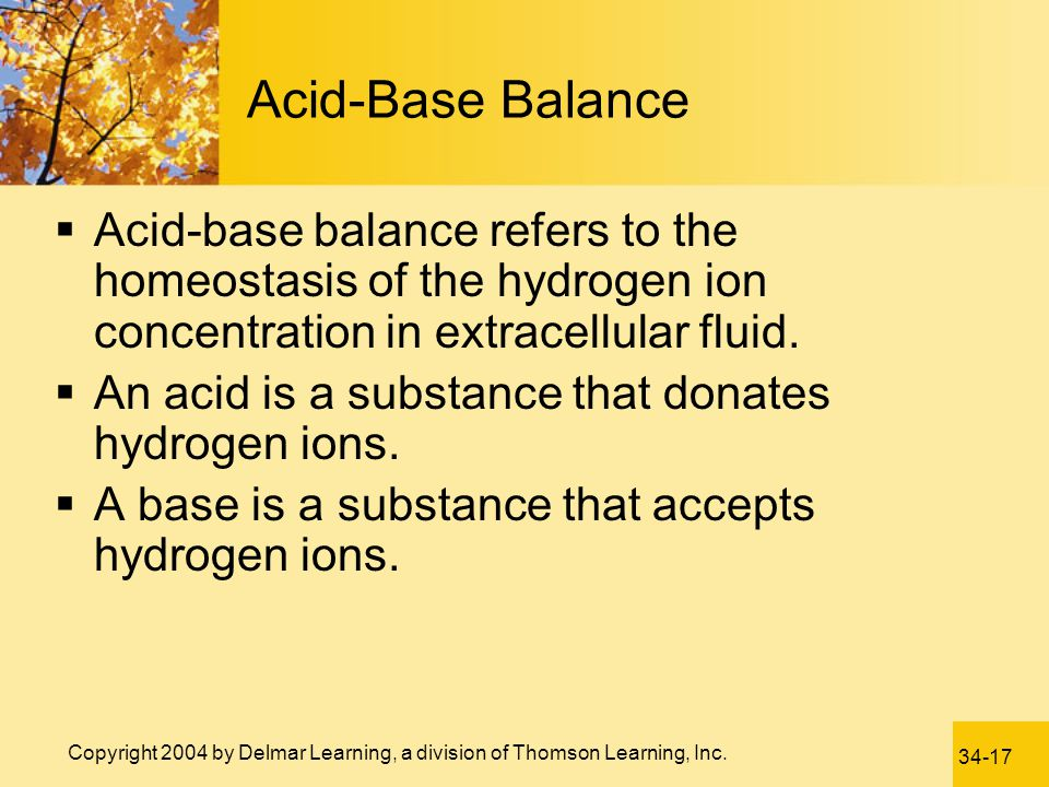 Acid-Base Balance Acid-base balance refers to the homeostasis of the hydrogen ion concentration in extracellular fluid.