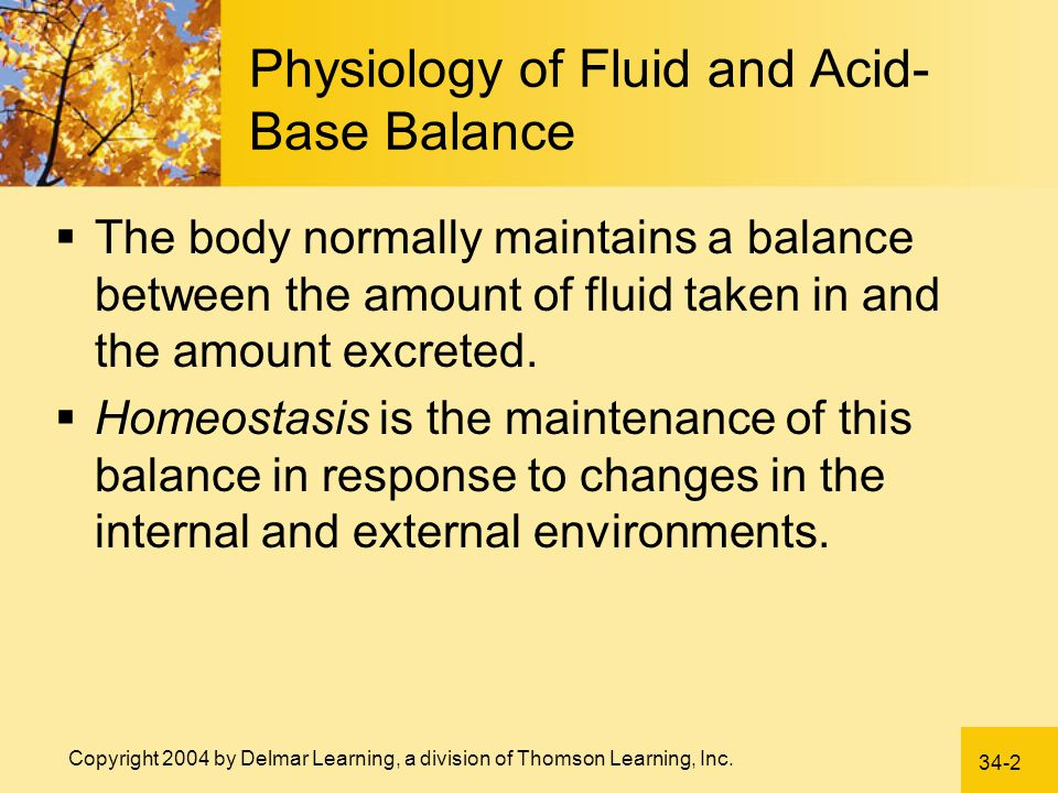 Physiology of Fluid and Acid-Base Balance