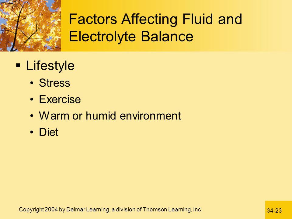 Factors Affecting Fluid and Electrolyte Balance