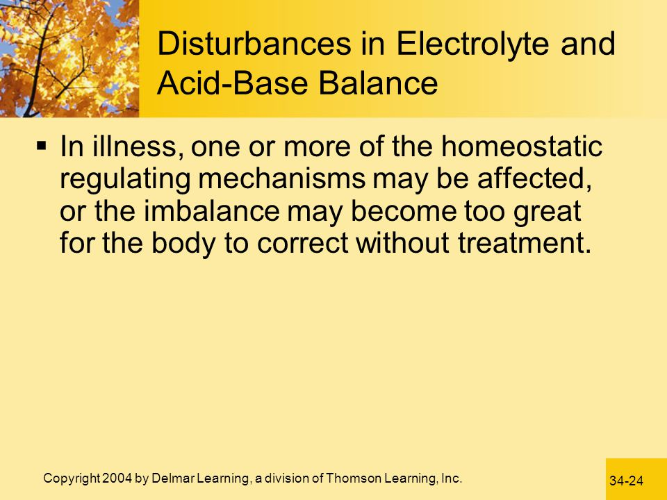 Disturbances in Electrolyte and Acid-Base Balance