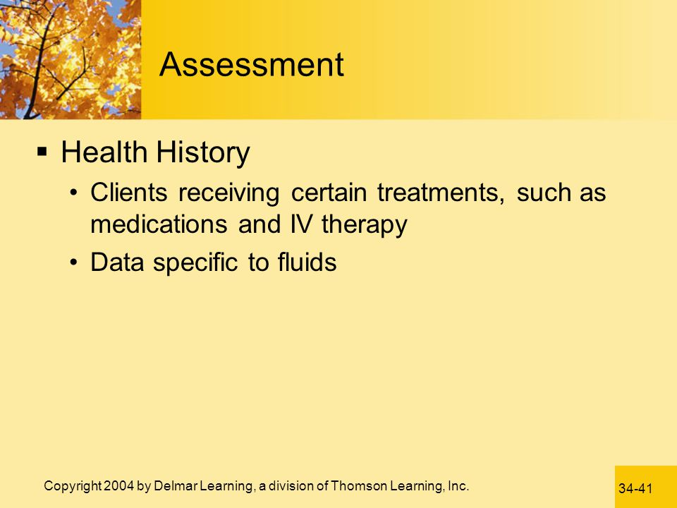 Assessment Health History