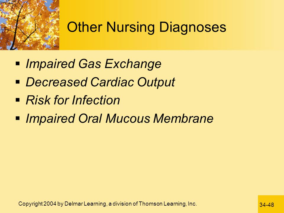 Other Nursing Diagnoses