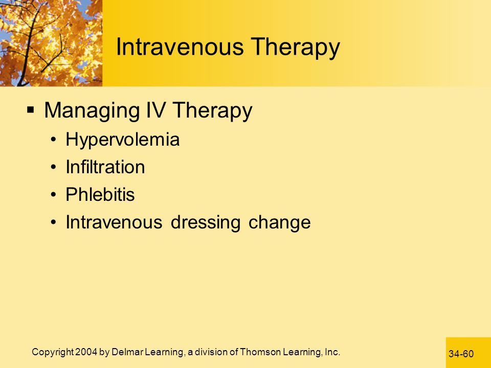Intravenous Therapy Managing IV Therapy Hypervolemia Infiltration