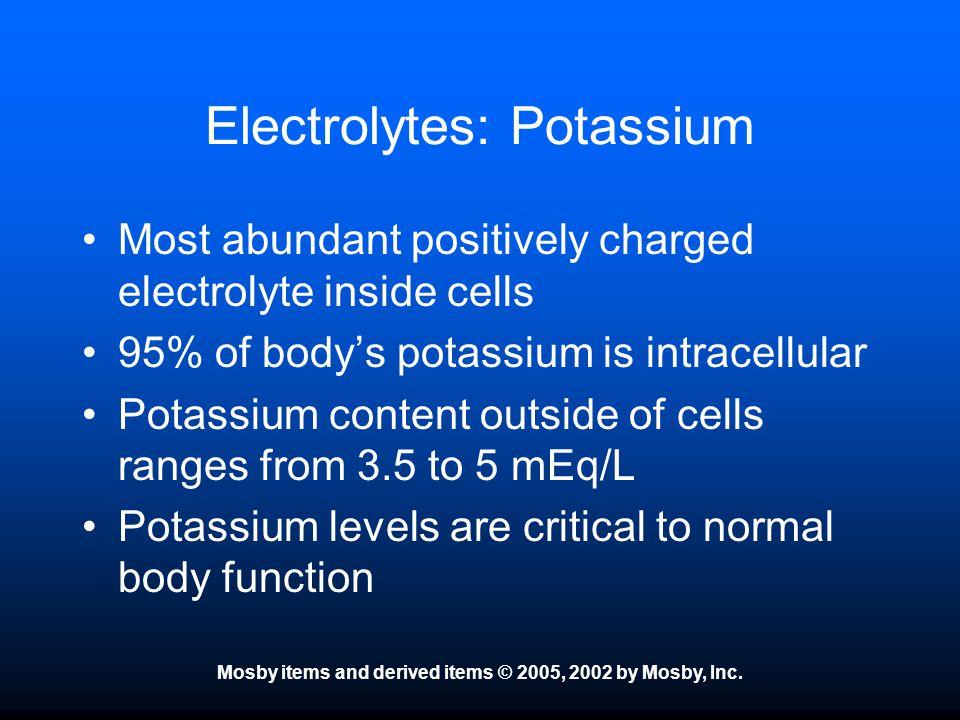 Electrolytes: Potassium