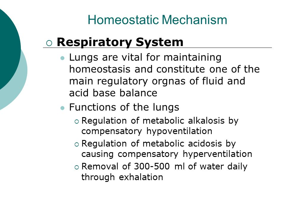 Homeostatic Mechanism