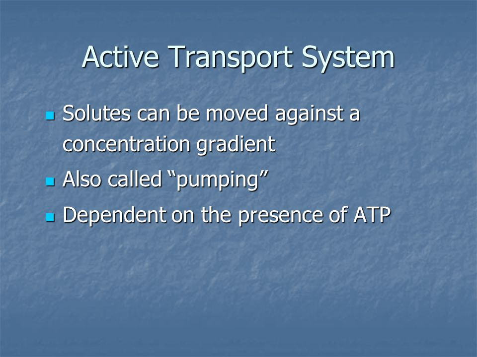 Active Transport System