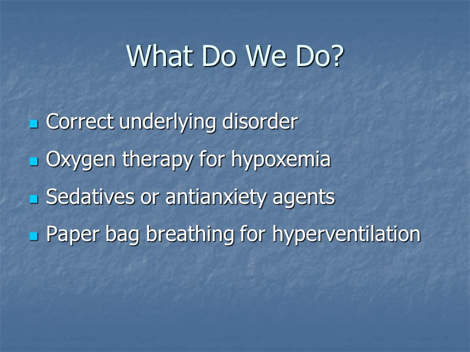 What Do We Do Correct underlying disorder
