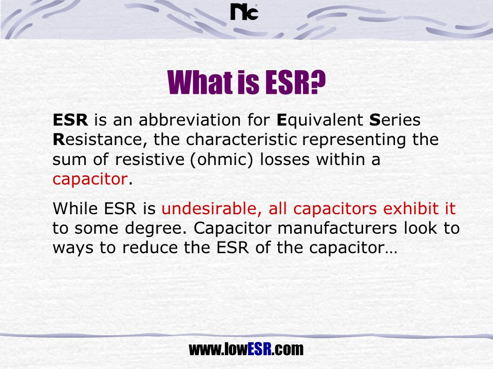 What is ESR