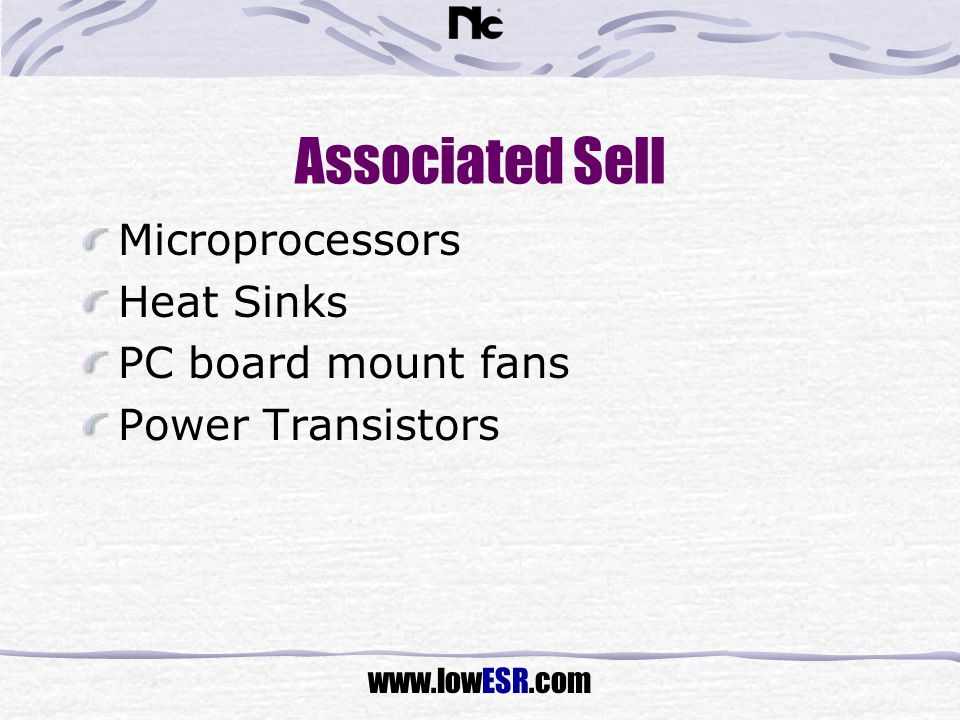 Associated Sell Microprocessors Heat Sinks PC board mount fans