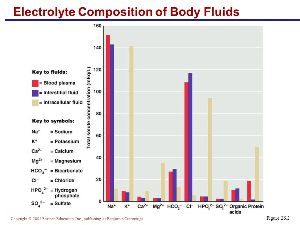 Electrolyte Composition of Body Fluids