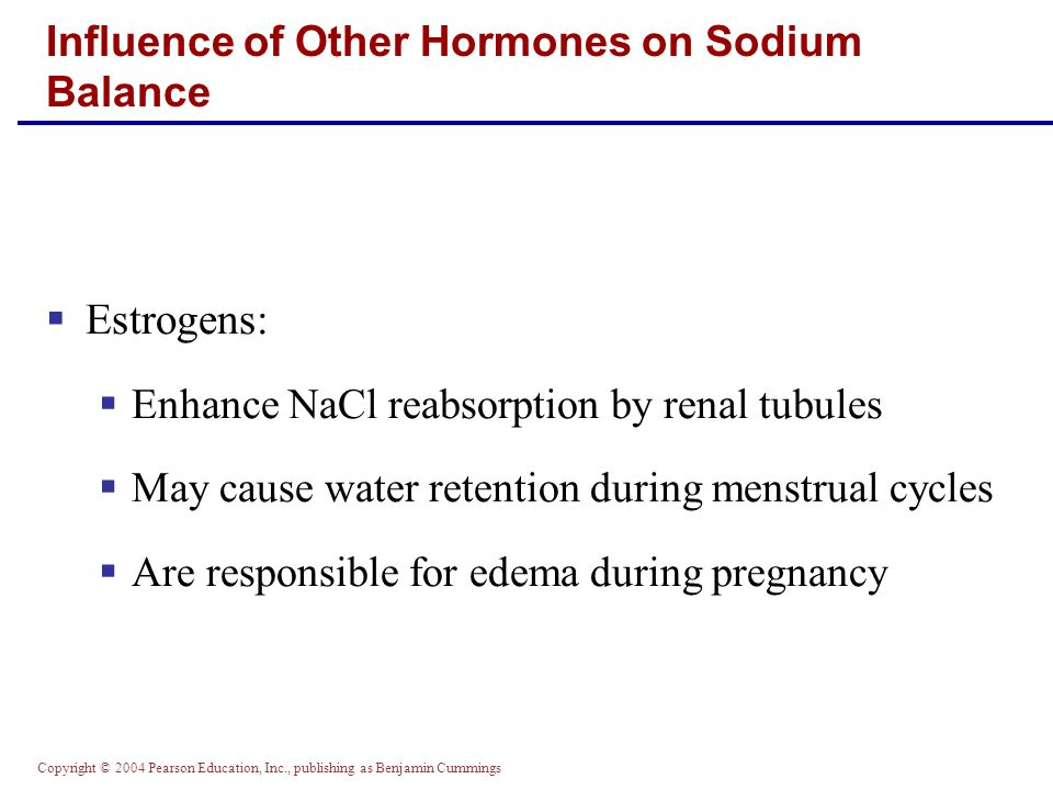 Influence of Other Hormones on Sodium Balance
