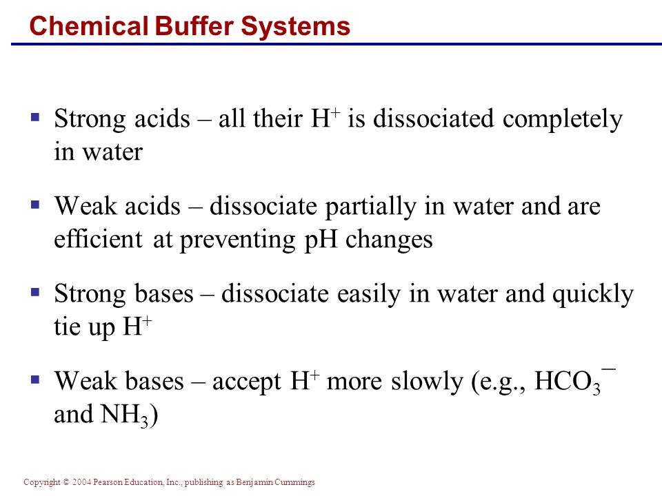 Chemical Buffer Systems