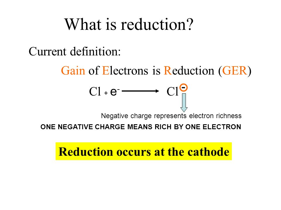 What is reduction Current definition: