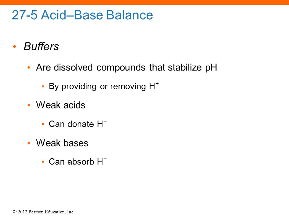 27-5 Acid–Base Balance Buffers