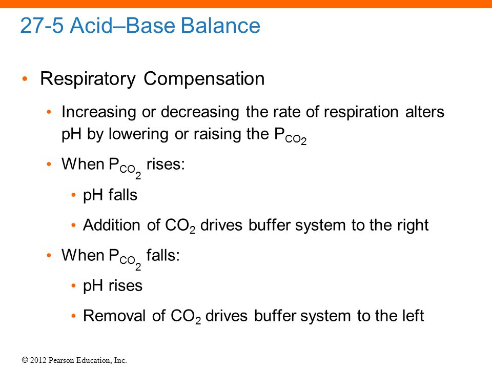 27-5 Acid–Base Balance Respiratory Compensation