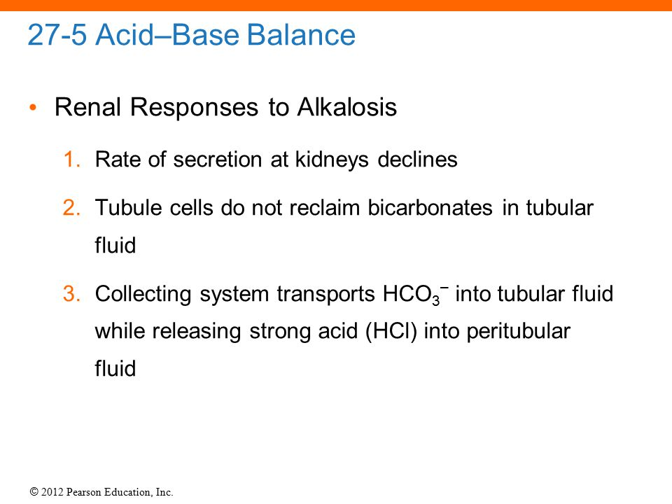 27-5 Acid–Base Balance Renal Responses to Alkalosis