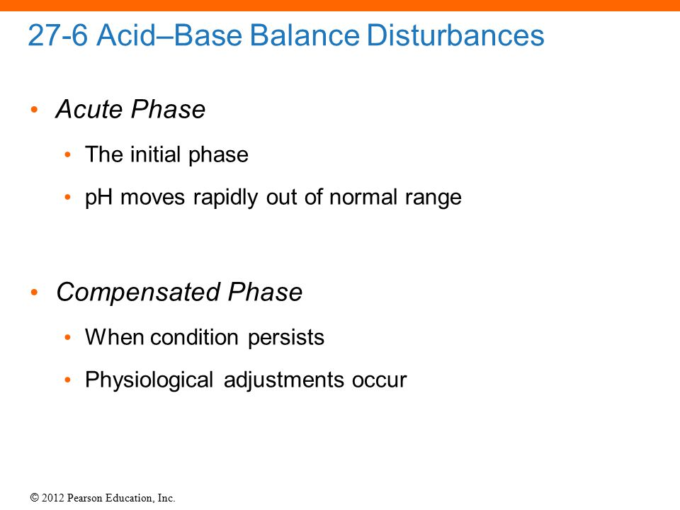 27-6 Acid–Base Balance Disturbances