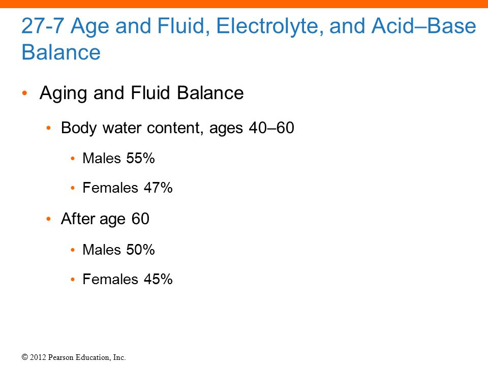 27-7 Age and Fluid, Electrolyte, and Acid–Base Balance