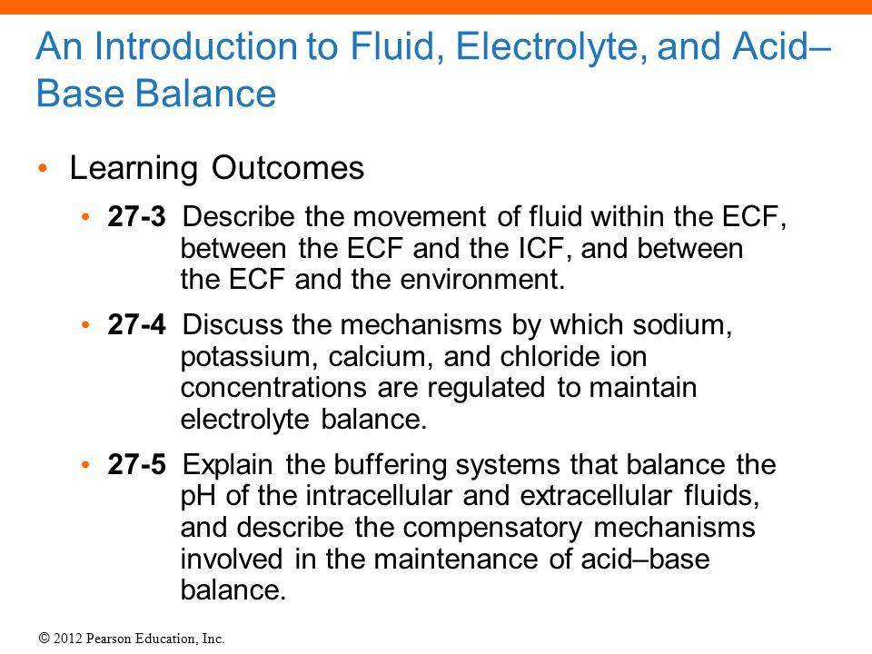 acid base balance and fluids and Vi pag chapter 15 fluid and acid-base balance v pag fluid balance water constitutes ~60% of body weight all cells and tissues are surrounded by an aqueous environment.