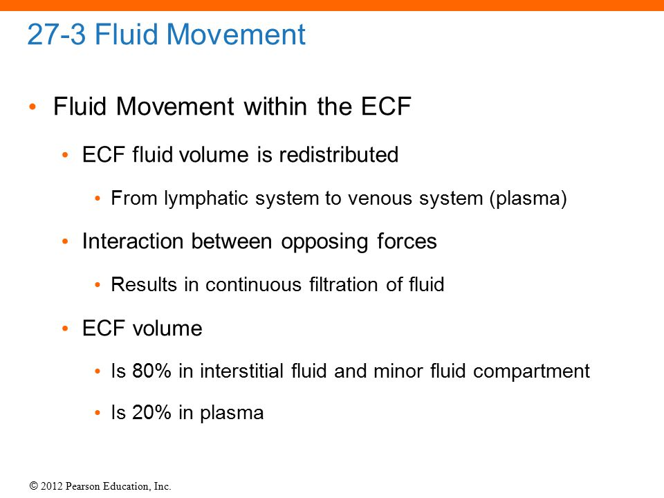 27-3 Fluid Movement Fluid Movement within the ECF