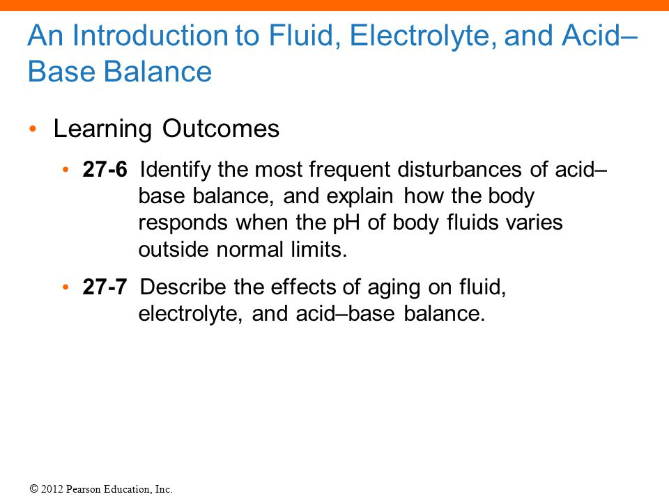 An Introduction to Fluid, Electrolyte, and Acid–Base Balance