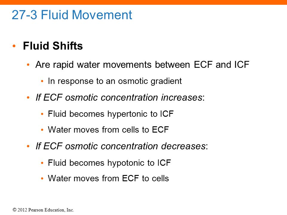 27-3 Fluid Movement Fluid Shifts