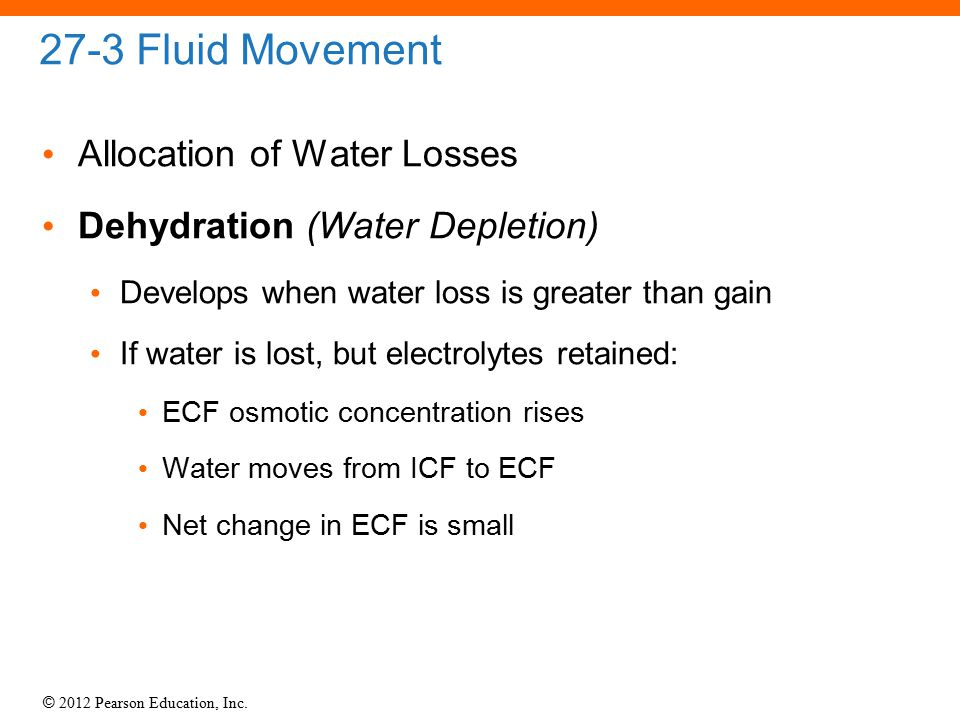 27-3 Fluid Movement Allocation of Water Losses