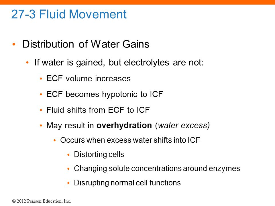 27-3 Fluid Movement Distribution of Water Gains