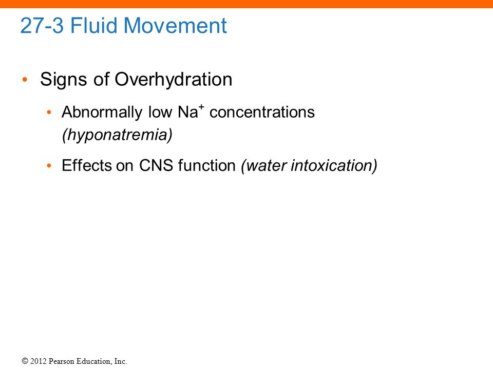 27-3 Fluid Movement Signs of Overhydration