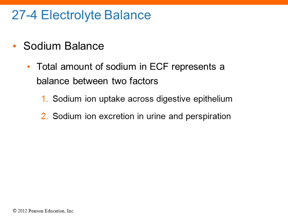 27-4 Electrolyte Balance Sodium Balance