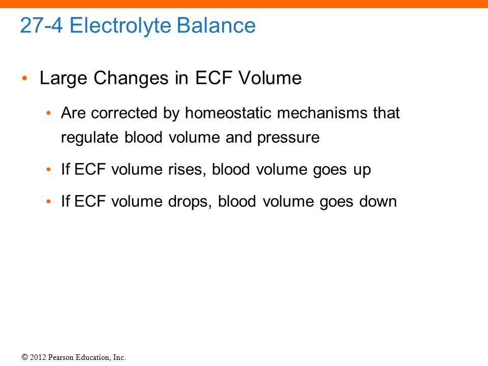 27-4 Electrolyte Balance Large Changes in ECF Volume