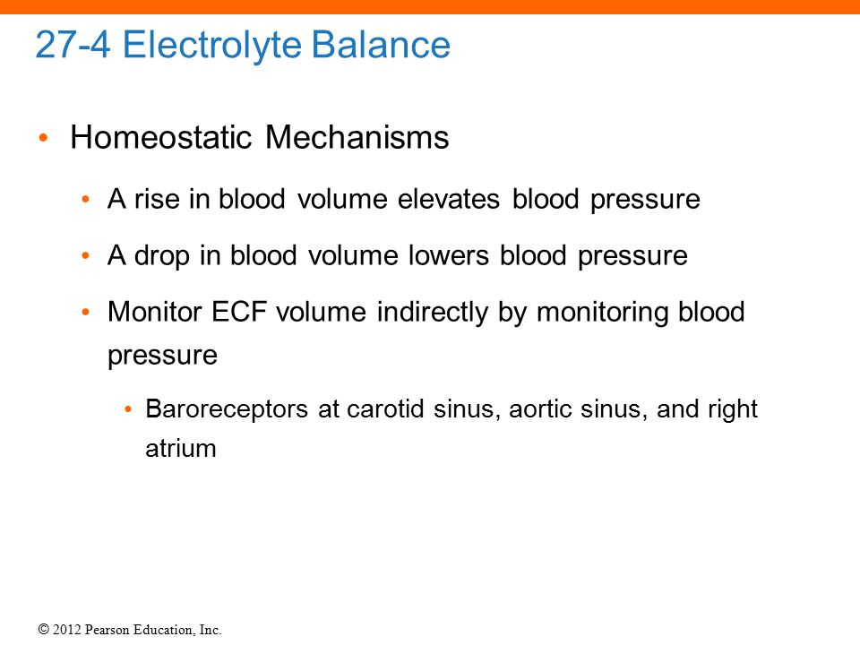 27-4 Electrolyte Balance Homeostatic Mechanisms