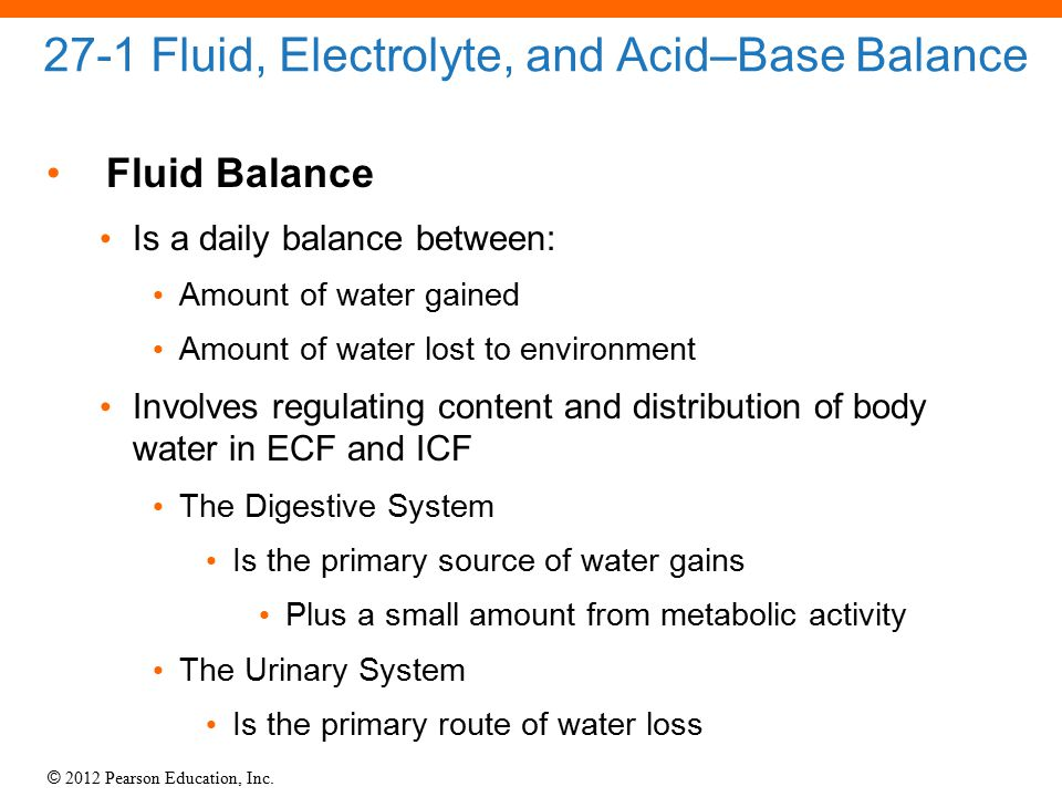 27-1 Fluid, Electrolyte, and Acid–Base Balance