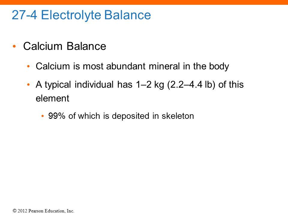 27-4 Electrolyte Balance Calcium Balance