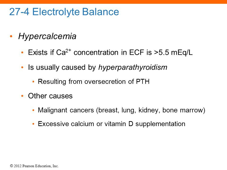 27-4 Electrolyte Balance Hypercalcemia