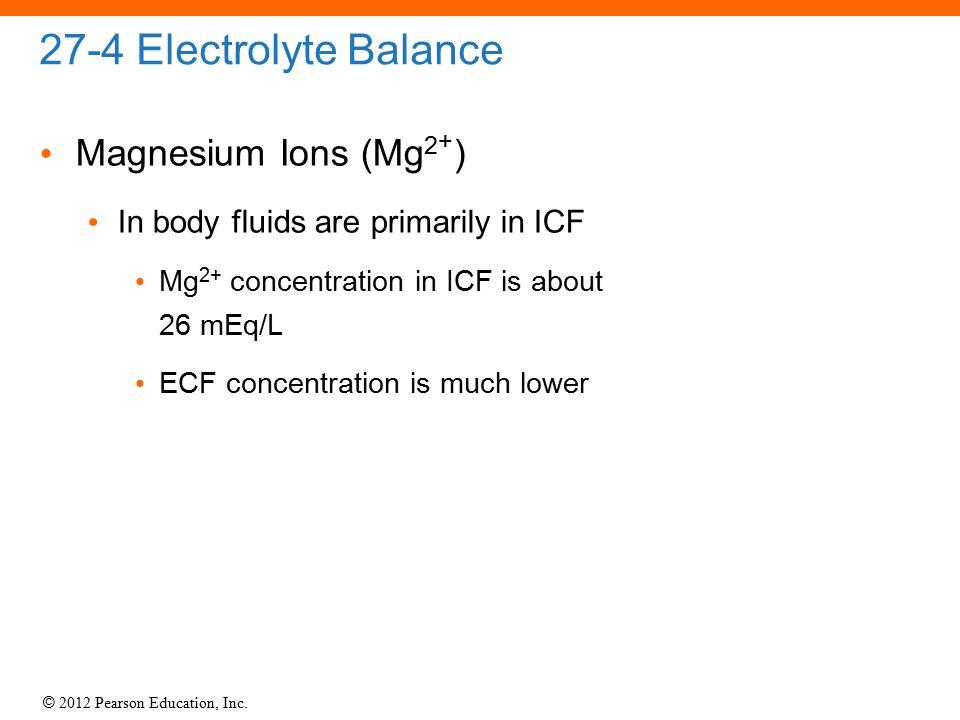 27-4 Electrolyte Balance Magnesium Ions (Mg2+)